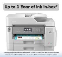 Brother Inkjet Printer, MFC-J5945DW, INKvestmentTank Color Inkjet All-in-One Printer with Wireless, Duplex Printing, NFC and Up to 1-Year of Ink-In-box
