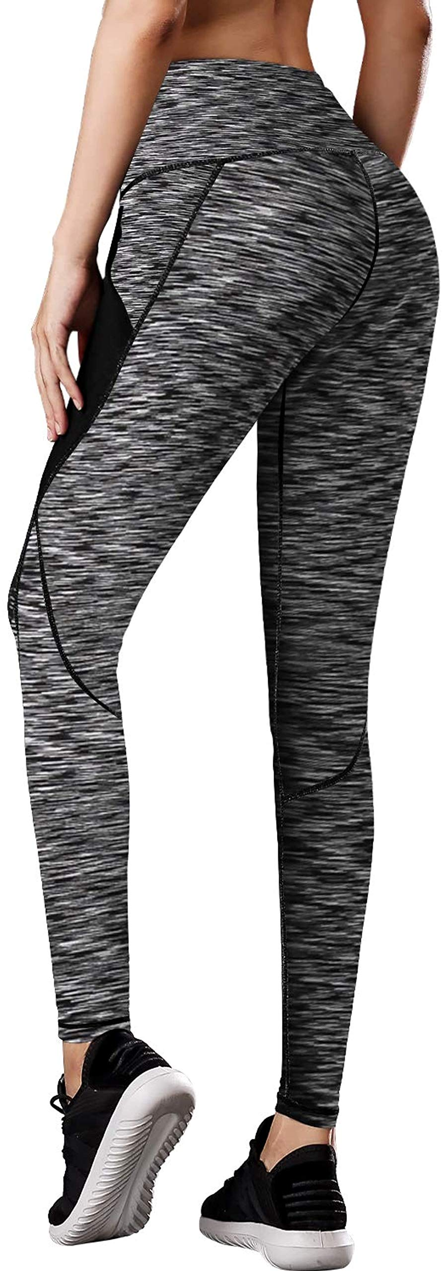 Queerier High Waisted Workout Leggings, Women's Yoga Pants with Pockets Tummy Control Compression Sport Running Tights