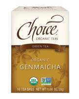 Choice Organic Teas - Genmaicha Tea (6 Pack) - Organic Green Tea - 96 Tea Bags