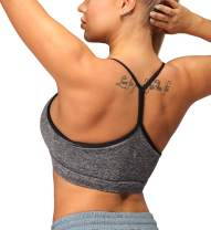 icyzone Workout Sports Bras for Women - Running Fitness Exercise Yoga Bra, Athletic Activewear Tops
