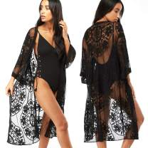 TopHonor Women's Bikini Cover up Beach Sheer Bathing Suit Robe Cardigan Swimwear Kimono Open Front One Size