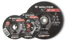 Walter 08K455 HP XX Grinding Wheel - [Pack of 10] A-20-X Grit, 4-1/2 in. Abrasive Finishing Wheel with Arbor Hole Fastening. Abrasive Wheels and Discs