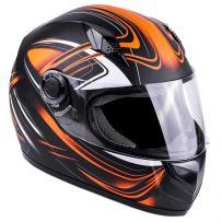 Typhoon Adult Full Face Motorcycle Helmet DOT - SAME DAY SHIPPING (Matte Orange, XXXXL)