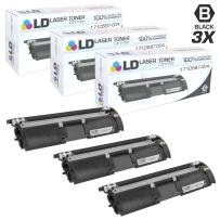 LD Remanufactured Toner Cartridge Replacements for Konica Minolta 1710587-004 (Black, 3-Pack)