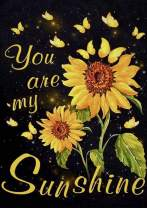 DIY 5D Diamond Painting Kits for Adults, Sunflower Wordart, Full Drill DIY Diamond Art Cross Stitch Paint by Numbers for Home Wall Decor You are My Sunshine by MVVMTOP(Sunflowers,30x40cm/11.8x15.8in)
