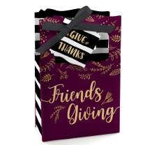 Big Dot of Happiness Elegant Thankful for Friends - Friendsgiving Thanksgiving Party Favor Boxes - Set of 12