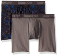 IRONMAN Men's Multipack Ironsport with Silver 6'' Boxer Brief