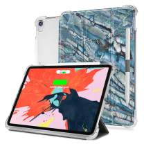 iPad Pro 11 Case, Valkit iPadPro11 Inch 2018Cover, Folio Stand Protective Case for iPad Pro 11 Inch with Auto Sleep/Wake & Apple Pencil Holder,Support Wireless Charging, Blue Marble