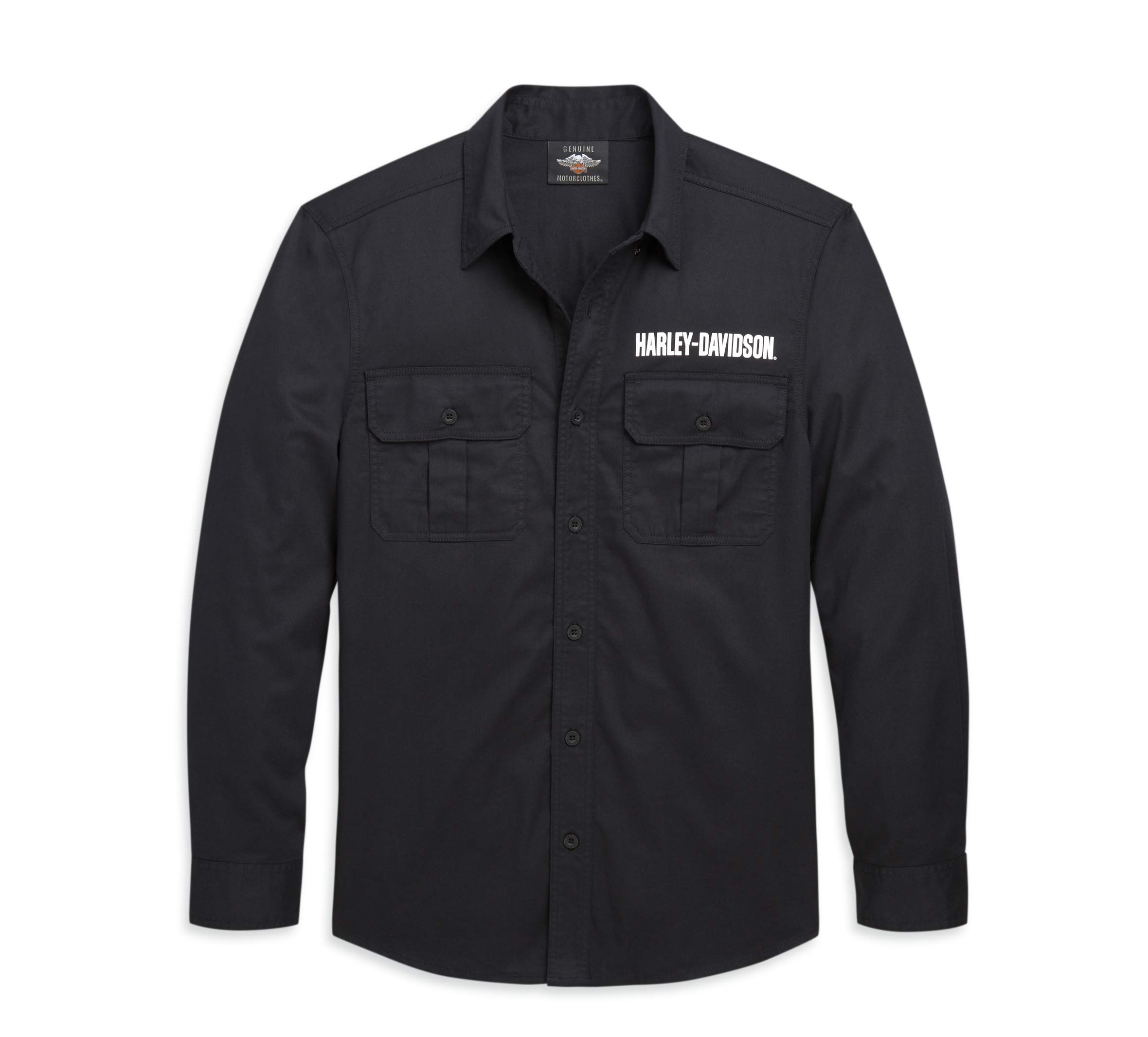 Harley-Davidson Men's #1 Long Sleeve Button-Down Shirt