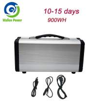 900W Portable Power Station Solar Generator Camping Potable Generator, CPAP Battery Recharged by Solar Panel/Wall Outlet/Car, 110V AC Out/DC 12V /QC USB Ports for CPAP Camp Travel