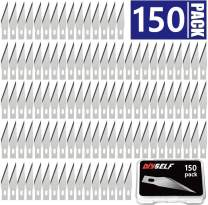 150 PCS Exacto Knife Blades, High Carbon Steel #11 Refill Exacto Art Blades Cutting Tool with Storage Case for Craft, Hobby, Scrapbooking, Stencil