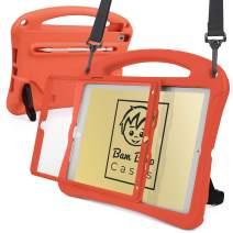 Bam Bino Space Suit [Rugged Kids Case] for 2019 10.2 iPad (7th Generation), iPad Pro 10.5, iPad Air 3   Designed in Australia   Screen Guard (Tangerine)