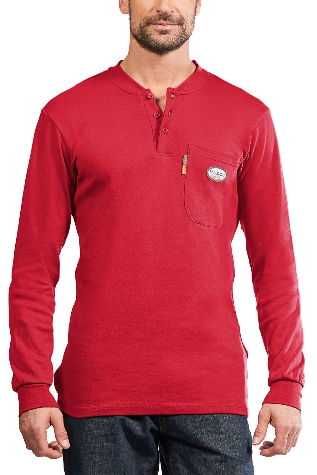 Rasco FR Men's Red Henley T-Shirt (3XL)
