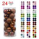 """GameXcel Christmas Balls Ornaments for Xmas Tree - Shatterproof Christmas Tree Decorations Large Hanging Ball Bronze 2.5"""" x 24 Pack"""