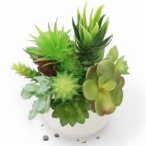 Ponwec 16 PCS Artificial Succulents Plants, Assorted Small Artificial Succulents for Home & Desk Decoration, Realistic Fake Plants for Garden Arrangement Decor(Pot not Included)