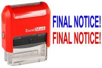 ExcelMark Self-Inking Rubber Office Stamp - Final Notice