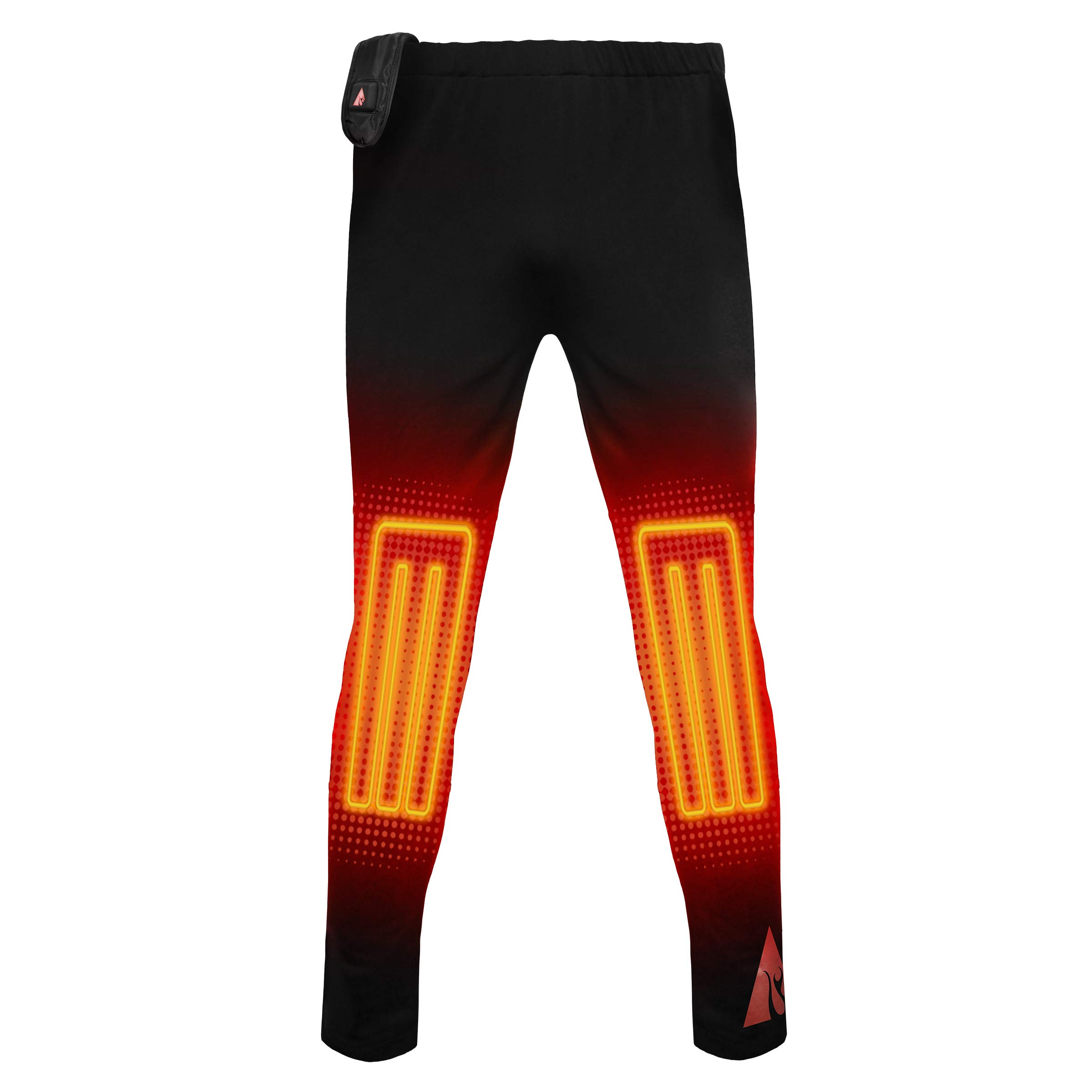 ActionHeat 5V Base Layer Battery Heated Pants for Men – Electric Heating Pants with Tri-Zone Heating Panels - Heated Trouser for Cold Weather Outdoor Camping, Hiking, Motorcycling