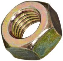 Brass Hex Nut, Plain Finish, DIN 934, Metric, M2-0.4 Thread Size, 4 mm Width Across Flats, 1.6 mm Thick (Pack of 100)