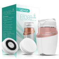 VOYOR Facial Cleansing Brush Rechargeable Sonic Face Brush Waterproof Face Cleansing Brush 3-IN-1 Set for Deep Skin Cleaning, Gentle Exfoliating and Blackhead Removing FB300