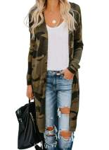 Chase Secret Womens Long Sleeve Print Lightweight Casual Cardigans Outwear Coats