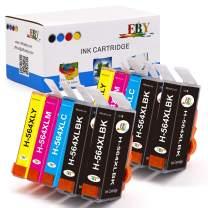 EBY Compatible Ink Cartridge Replacement for HP 564XL 564 XL Photosmart 7520 6520 5520 7525 6525 5525 5510 7510 6510 Officejet 4620 4622 Deskjet 3520 3522 (4 Black,2 Cyan,2 Magenta,2 Yellow, 10-Pack)