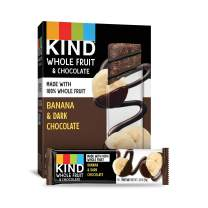 Pressed by KIND Fruit Bars, Chocolate Banana, No Sugar Added, Non GMO, Gluten Free, 1.34oz, 4 Count (6 Pack)