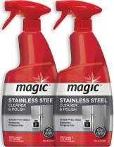 Magic Stainless Steel Cleaner - 24 Ounce (2 Pack) Removes Fingerprints Residue Water Marks and Grease from Appliances - Works Great on Refrigerators Dishwashers Ovens Grills