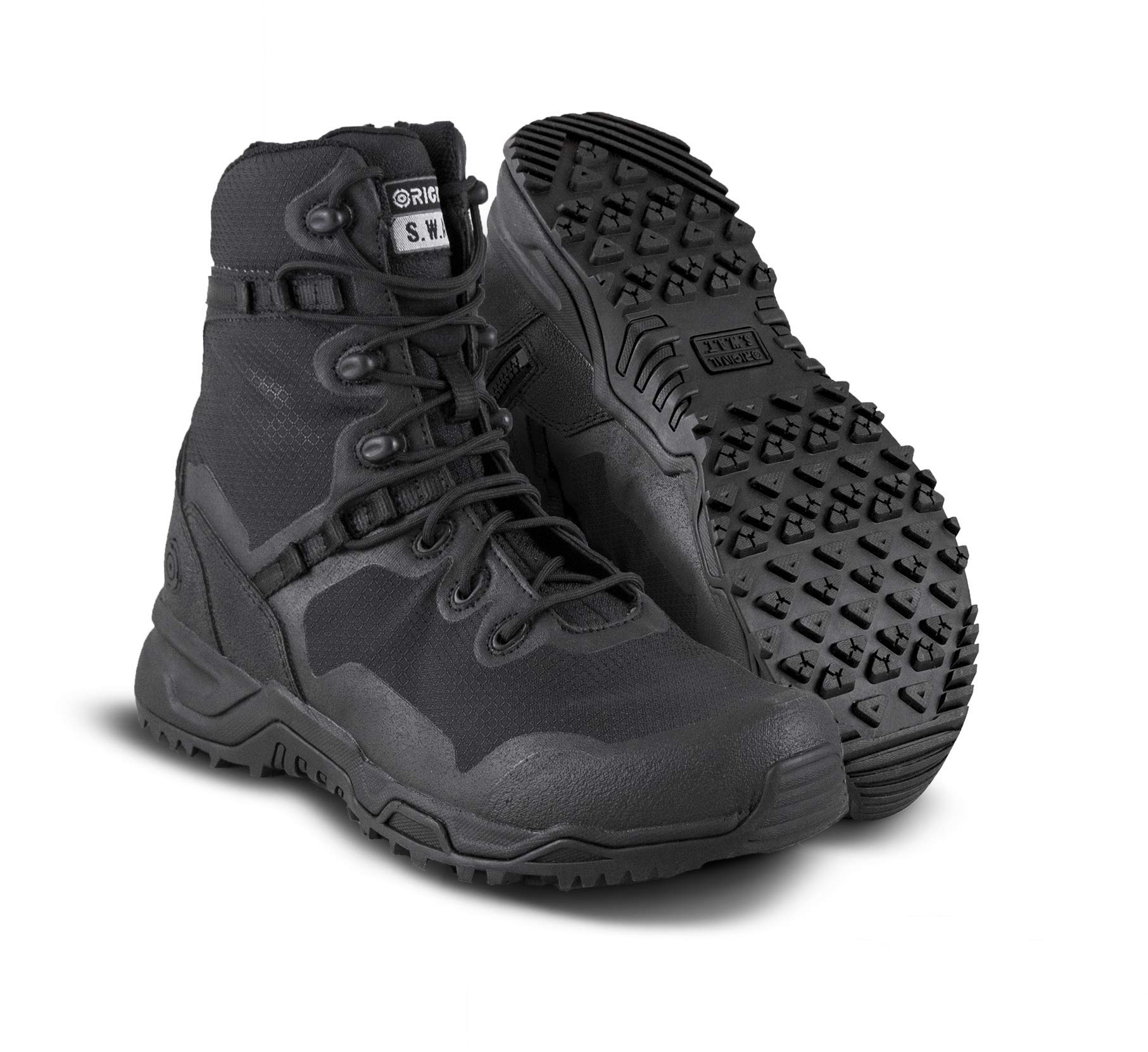 """Original SWAT Alpha Fury 8"""" Tactical Boot   High Performance Light Weight Duty Shoes   Airport Friendly"""