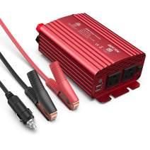 BESTEK 500W Power Inverter DC 12V to 110V AC Converter with Alligator Battery Clamp 4.8A Dual USB Car Charger ETL Listed