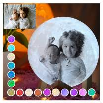 Customized Christmas Lights, Customed Moon Lamp Pubsooup 3D Printing Night Light 16 Colors with Remote Personalized Gifts for Christmas Birthday Mother's Day (5.9 Inch/15cm)