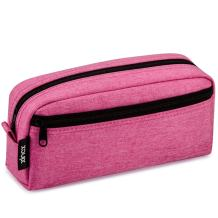 Big Capacity Pencil Case Stationery Pouch,Multi-Colored Pen Pouch,Cosmetic Pouch Bag, Pen Bag with Zipper Bag for Boy Girl (Pink)