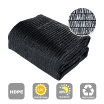 Agfabric 40% Sunblock Shade Cloth Cover with Clips for Plants 6.5' X 100', Black