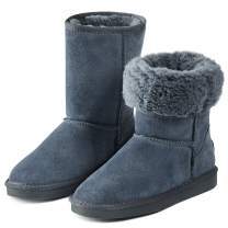 Adokoo Women's Winter Snow Boots Warm Faux Fur Lined Mid Calf Boots Ankle Booties