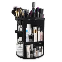 Makeup Organizer, KABB 360-Degree Rotating Adjustable 7 Layers Multi-Function Cosmetic Storage Box with Top Tray, Compact Size with Large Capacity