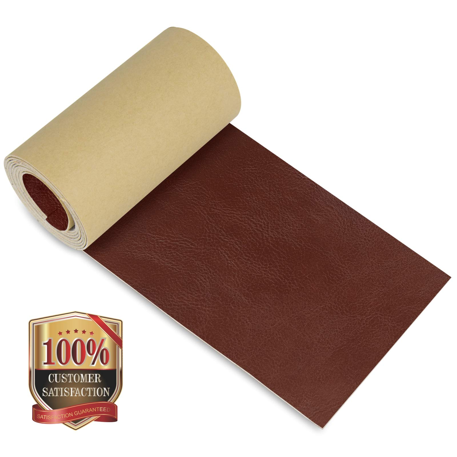 Leather Repair Patch 4 x 50 Inches, 75 Colors Available, Self-Adhesive Leather Tape for Couches, Chairs, Car Seats, Bags, Jackets (Crazy Horse)