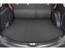 Motor Trend Custom Exact Fit Luxury Padded PU Leather Leatherette Trunk Mat Cargo Liner for Toyota RAV4 2015-2016
