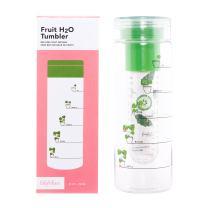 FabFitFun Fruit Infuser Water Bottle Tumbler, BPA Free, 25 oz