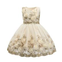 Ruffles Bow Flower Tulle Princess Formal Wedding Birthday Party Dress for Toddler Baby Girl