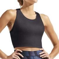Hibelle Womens Scoop Neck Racerback Yoga Workout Crop Tank Tops