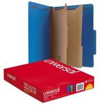 l Pressboard Classification Folders, Letter, Six-Section, Cobalt Blue, 10/Box-New