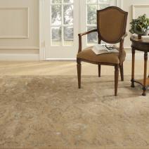 "Safavieh Martha Stewart Collection MSR3260D Geranium Leaf Premium Wool and Viscose Toffee Area Rug (5'6"" x 8'6"")"