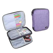 Luxja Carrying Bag for Cricut Pen Set and Basic Tool Set, Double-Layer Organizer for Cricut Accessories (Bag Only), Purple