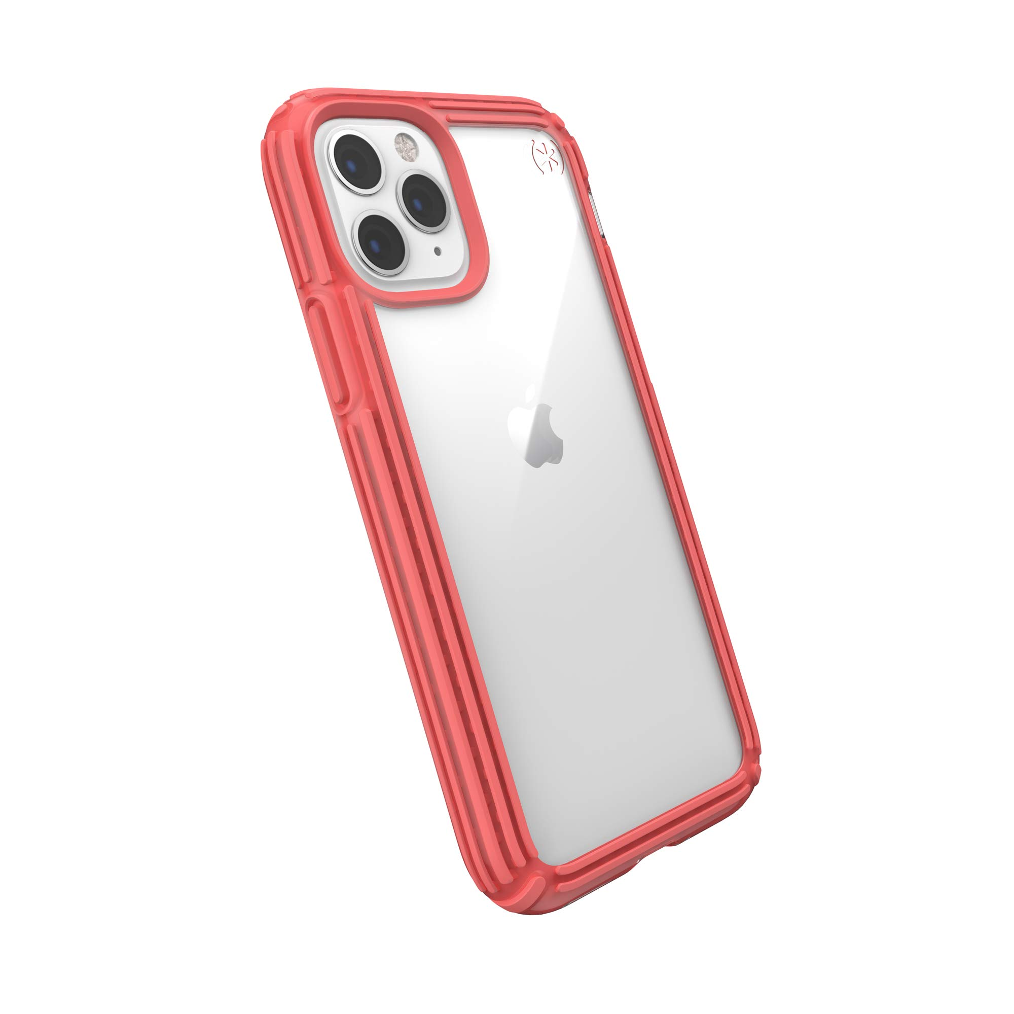 Speck Products Presidio V-Grip iPhone 11 Pro Case, Clear/Parrot Pink, Model:129902-8530