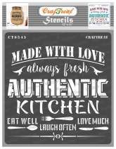 CrafTreat Kitchen Quote Stencils for painting on Wood, Canvas, Paper, Fabric, Floor, Wall and Tile - Authentic Kitchen stencil - 12x12 Inches - Reusable DIY Art and Craft Stencils for Home Decor