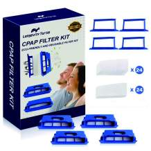[1 Year Apply] CPAP Filters kit for Philips Respironics Dreamstation Machine, Includes 4 Pollen+4 Ultra-Fine Filters Slots, 24 Foam Filter+24 Ultra-fine Filter Assemble Filter into Frame Kit