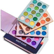 Beauty Glazed 60 Colors Eyeshadow Palette, New 4 in 1 Color Board Makeup Palette High Pigmented Bright Color Nude Shimmer Matte Glitter Cream Eye Shadow Palettes