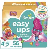 Pampers Easy Ups Pull On Disposable Potty Training Underwear for Girls and Boys Size 6 (4T-5T), 56 Count, Super Pack (Packaging May Vary)