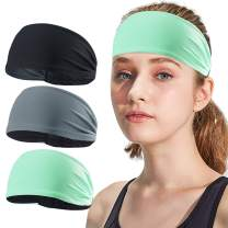 AXBXCX Non-Slip Silicone Headband Sweatband & Sports Headband Moisture Wicking Workout Sweatbands