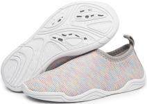 eslla Kids Water Shoes Slip-on Quick Drying Boys Girls Beach Swimming Water Sports Aqua Shoes