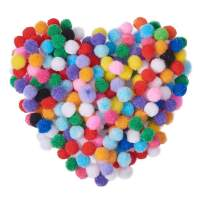 PH PandaHall 10mm Mixed Multicolor Assorted Pom Poms Balls About 2000pcs for DIY Doll Craft Party Decoration